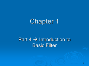 Chapter 1 (Part 4) - Basic Filter