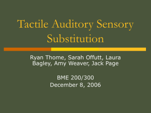 Tactile Auditory Sensory Substitution - Computer