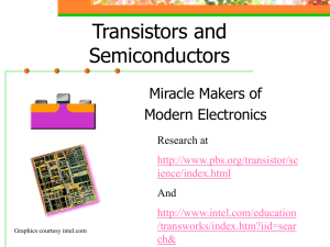 Transistors and Semiconductors