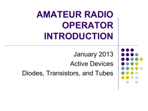 PDEV-1018 AMATEUR RADIO OPERATOR INTRODUCTION
