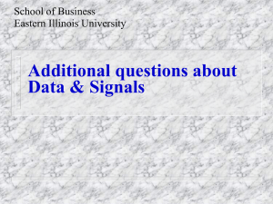 Additional questions about Data & Signals