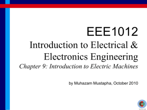 Chapter 9: Introduction to Electric Machines