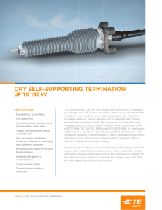 DRY SELF-SUPPORTING TERMINATION UP TO 145 kV