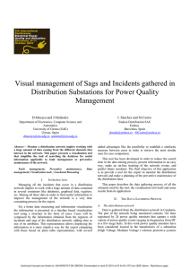 Visual management of Sags and Incidents gathered in Management
