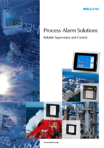 Process Alarm Solutions Reliable Supervision and Control