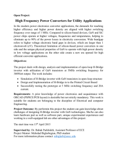 High Frequency Power Converters for Utility Applications