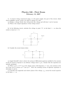 Physics 536 - First Exam February 12, 2007