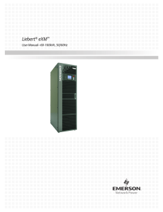 Liebert eXM User Manual–60-100kVA, 50/60Hz ®