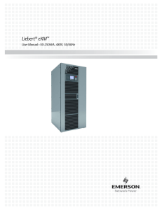 Liebert eXM User Manual–50-250kVA, 480V, 50/60Hz ®