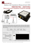 Battery Cell Impedance Measurement (EIS)  PSM3750 FRA  + BATT470m