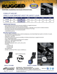 NEW FORKLIFT MOUNT: SINGLE LIGHT BRACKET AND TYRI SAFETY LIGHT Light Bracket Features: