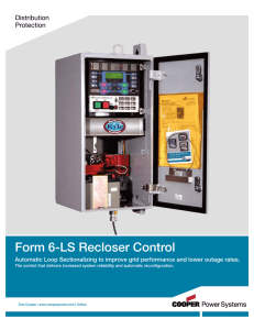 Form 6-LS Recloser Control Distribution Protection