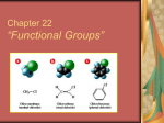 Organic Chem Functional Groups