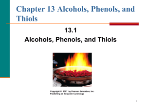 Alcohols, Phenols, Thiols, & Ethers