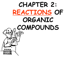 chapter 2: reactions of organic compounds