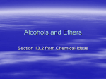 Alcohols and Ethers