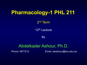 Pharmacology-1 PHL 211 - Home