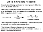 grignard reaction preparation of benzoic acid lab report Lab report 2 - free download as introduction the grignard reaction is one discussion the first step in the formation of benzhydrol was the actual synthesis of.