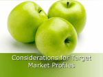Considerations for Target Market Profiles