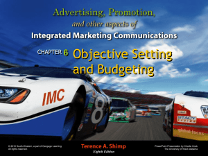 Integrated Marketing Communications 8e.