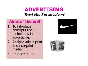 ADVERTISING Trust Me, I`m an advert - Milligans
