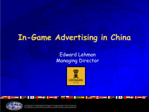 In-Game Advertising in China