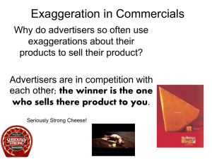 Exaggeration in Commercials