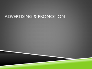 Advertising Promotion