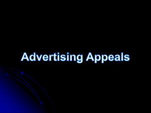 Advertising Appeals Power Point