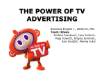 THE POWER OF TV ADVERTISING