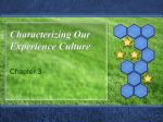Characterizing our Experience Culture - Cal State LA