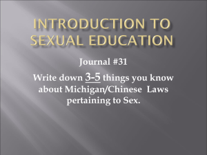 Introduction to Sex Education