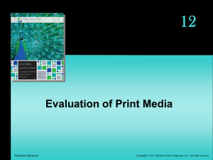 12 Evaluation of Print Media - McGraw Hill Higher Education