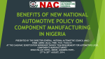 Benefits of New National Automotive Policy on - cadd