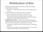 Mobilization of Bias
