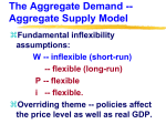 The Aggregate Demand -- Aggregate Supply Model