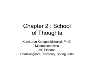 Chapter 2 : School of Thoughts
