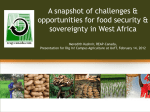 Linking Food Security & Agroecology – A Case Study in