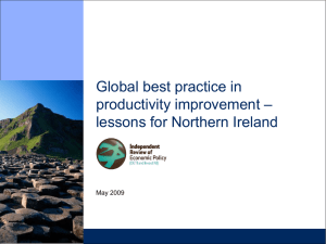 Global best practice in productivity improvement – lessons