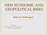 NEW ECONOMIC AND GEOPOLITICAL RISKS