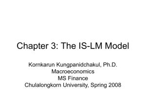 Chapter 3: The IS