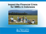 Impact the Financial Crisis for SMEs in Indonesia