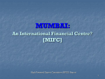 MUMBAI: An International Financial Centre [MIFC]