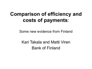 Comparison of efficiency and costs of payments: Some new