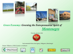Greening the Entrepreneurial Spirit of Montenegro