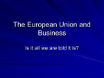 The European Union and Business