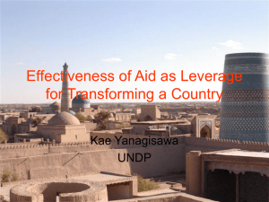 Effectiveness of Aid as Leverage for Transforming a Country