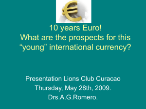 10 years Euro, what are the prospects?