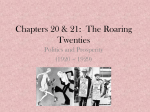 Chapters 20 & 21: The Roaring Twenties