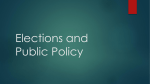 Elections and Public Policy